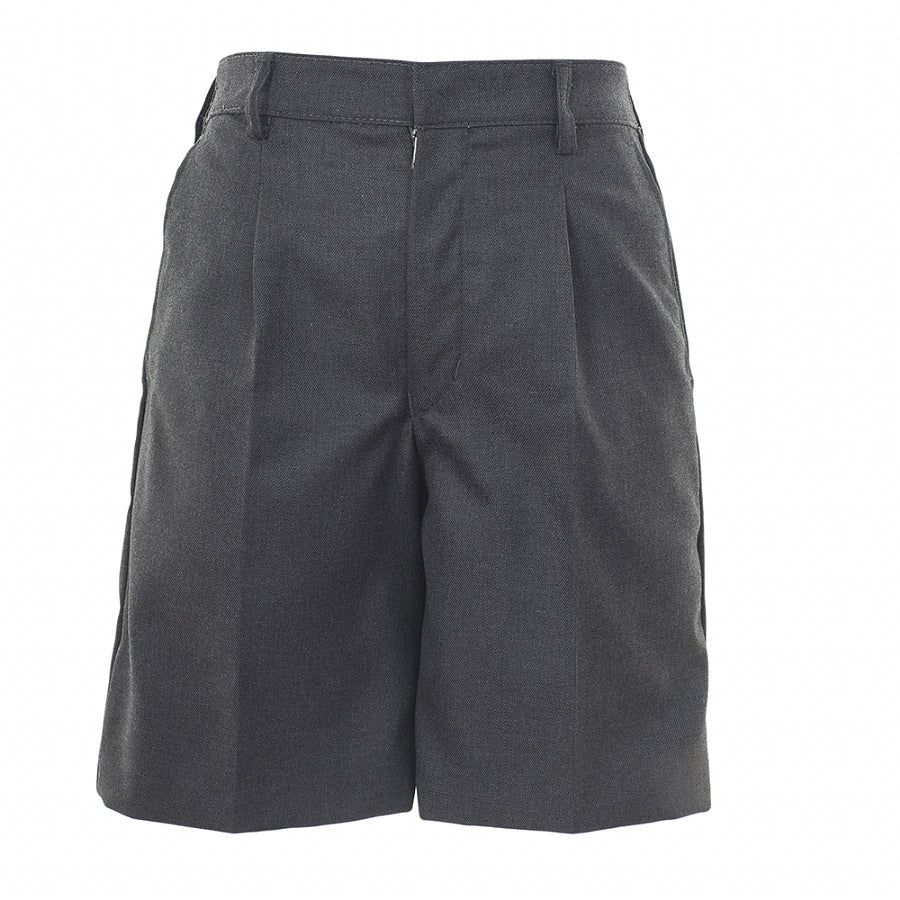 Boys' School Bermuda Length Shorts in Mid Grey