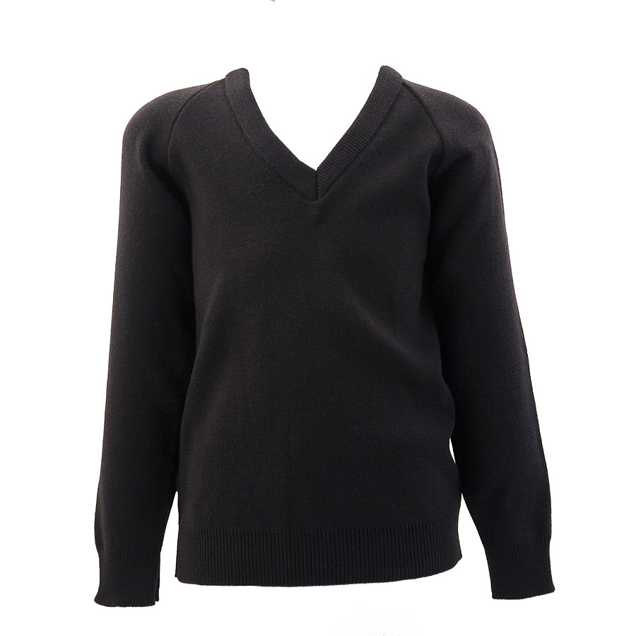 Black Cotton/Acrylic Jumper