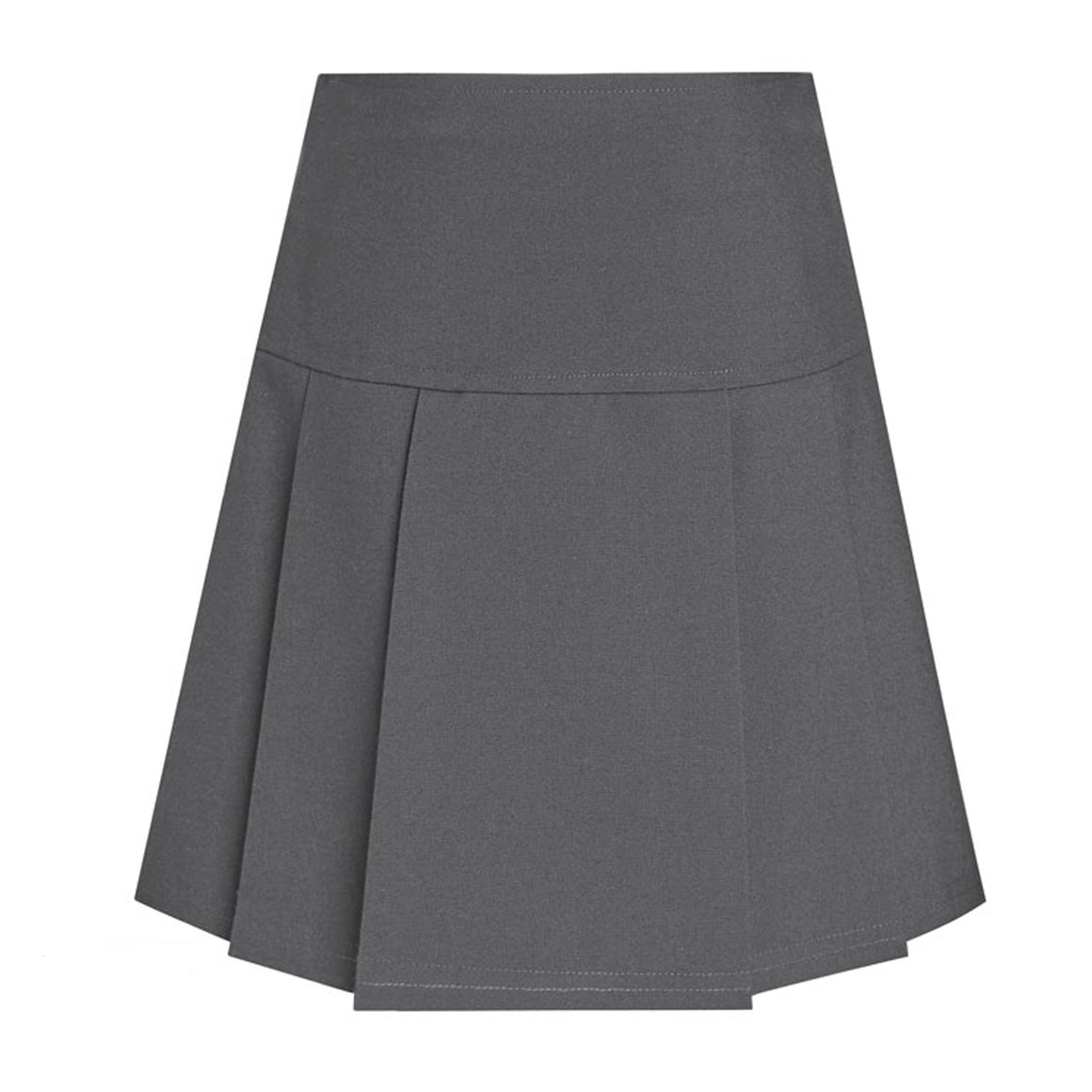 DL Junior Drop Waist Pleated Skirt in Grey