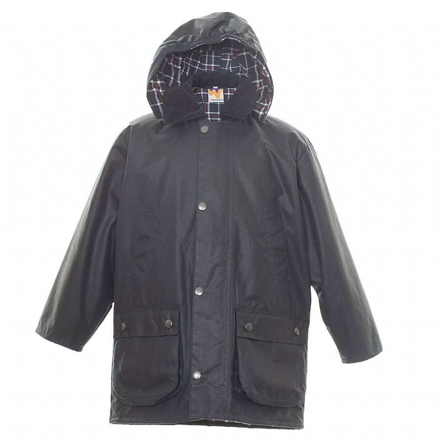 Navy Wax Coat