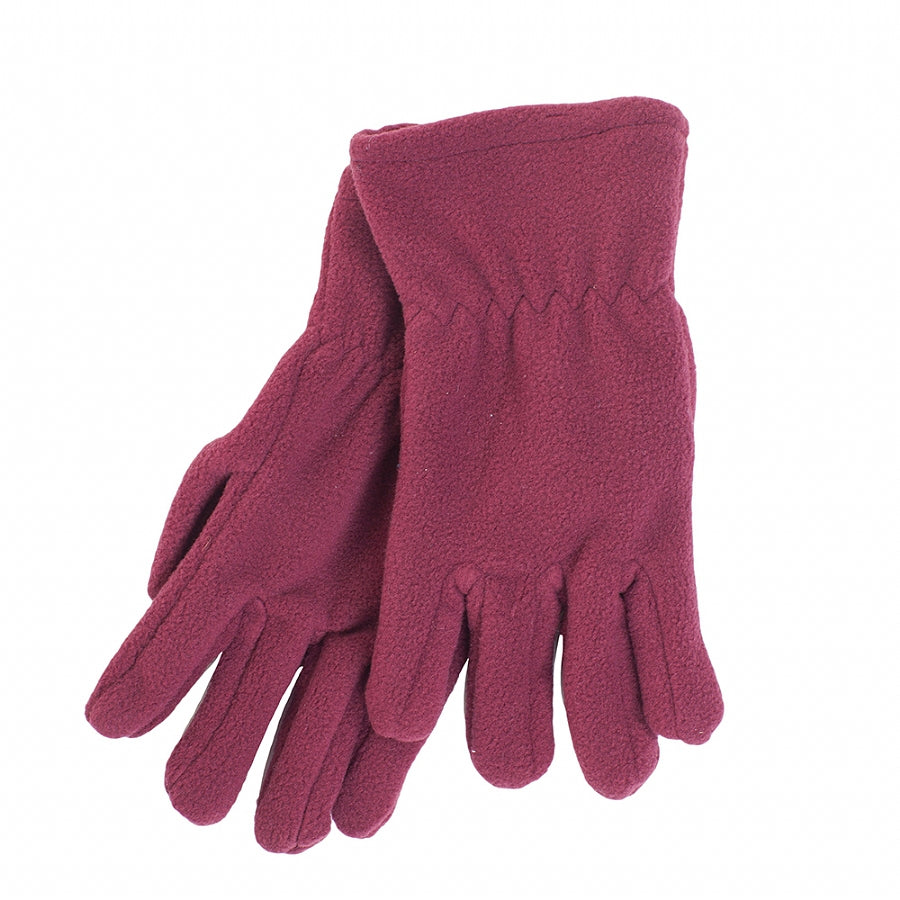 Fleece Glove - Maroon