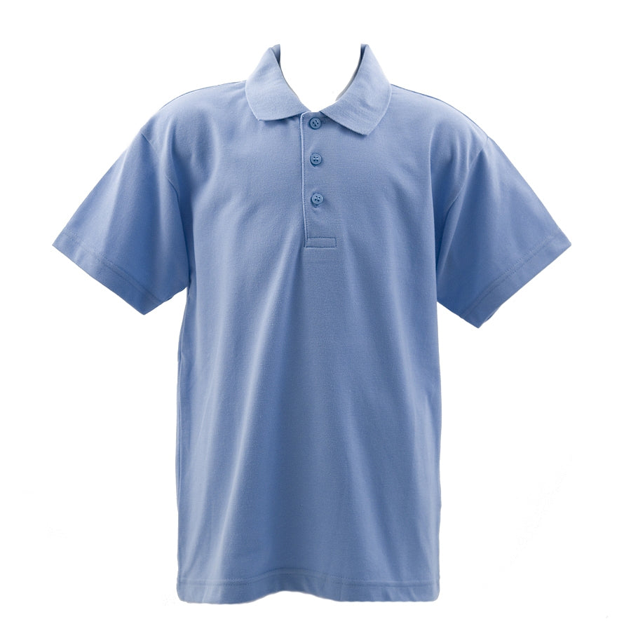 School Polo Shirt in Sky