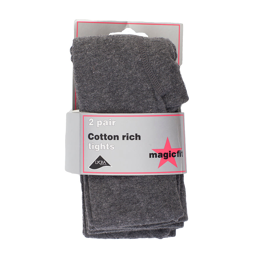 Cotton Soft Tights - 2PK - Grey