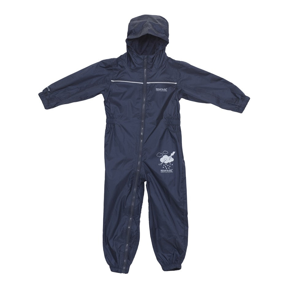 All in One Puddle Suit for Kids in Navy