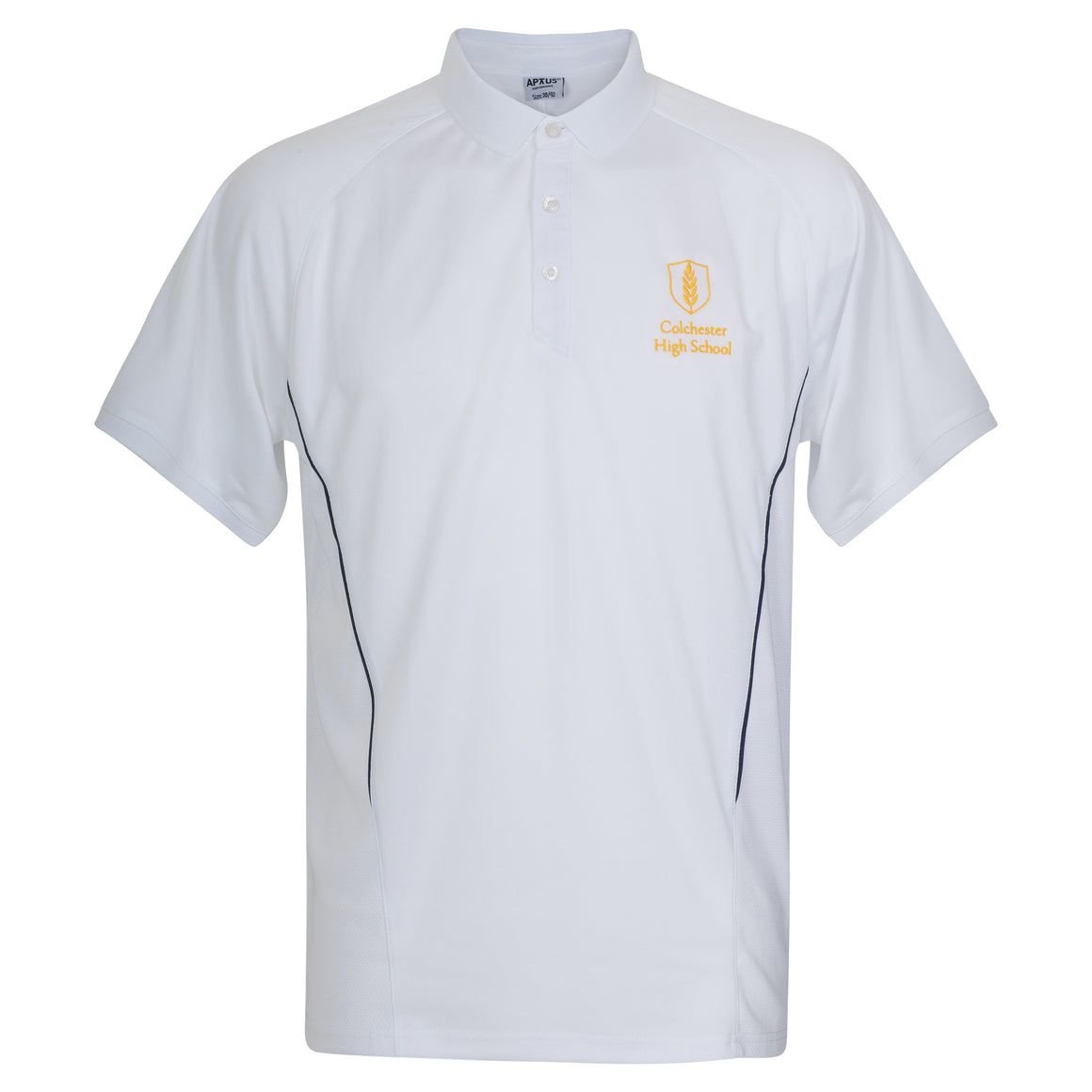 CHS White PE Games Polo