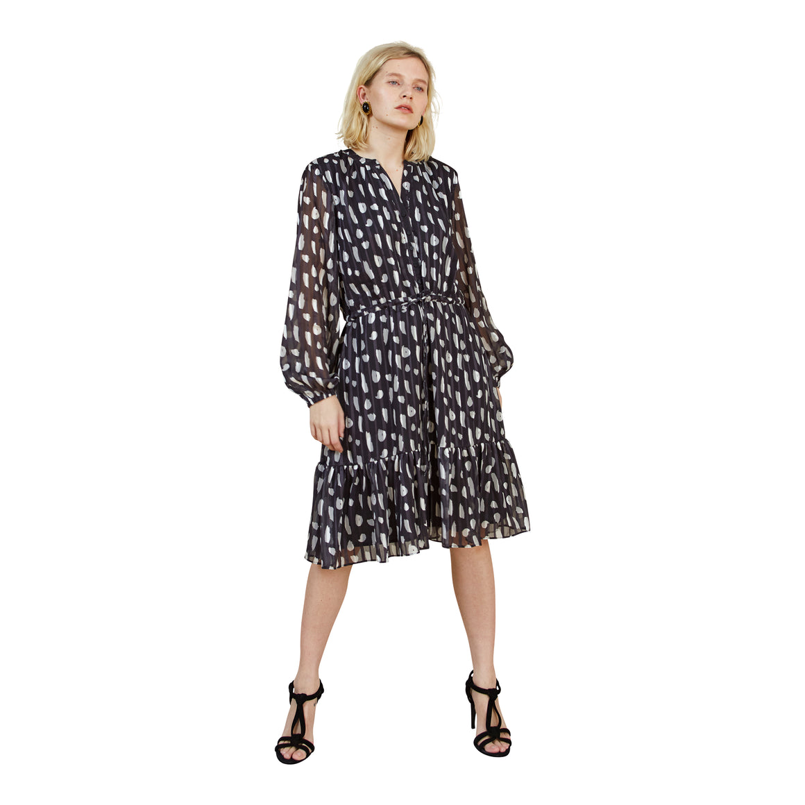 Hazel Printed Dress for Women in All Over Print