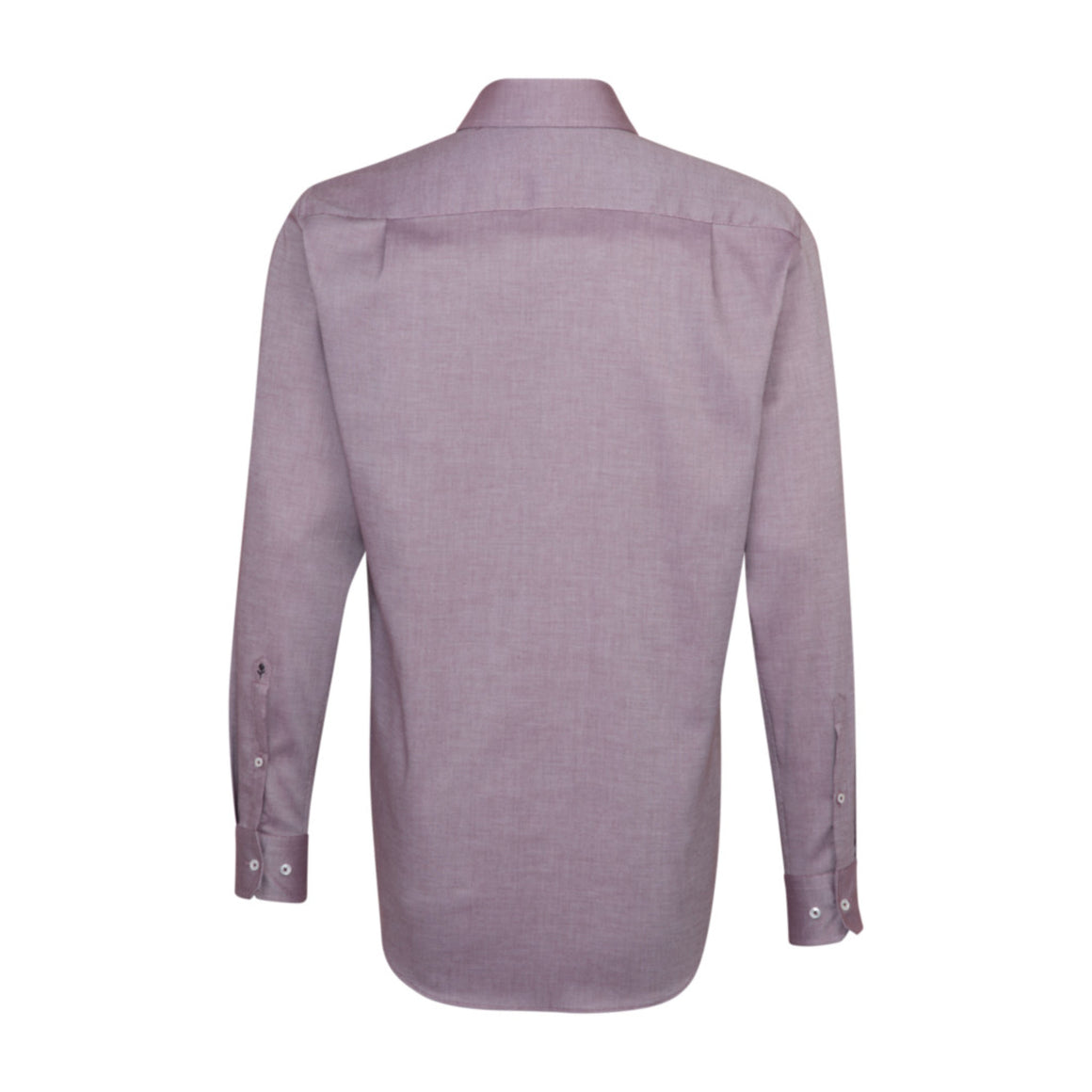 Plain Surface Structure Shirt for Men in Burgundy