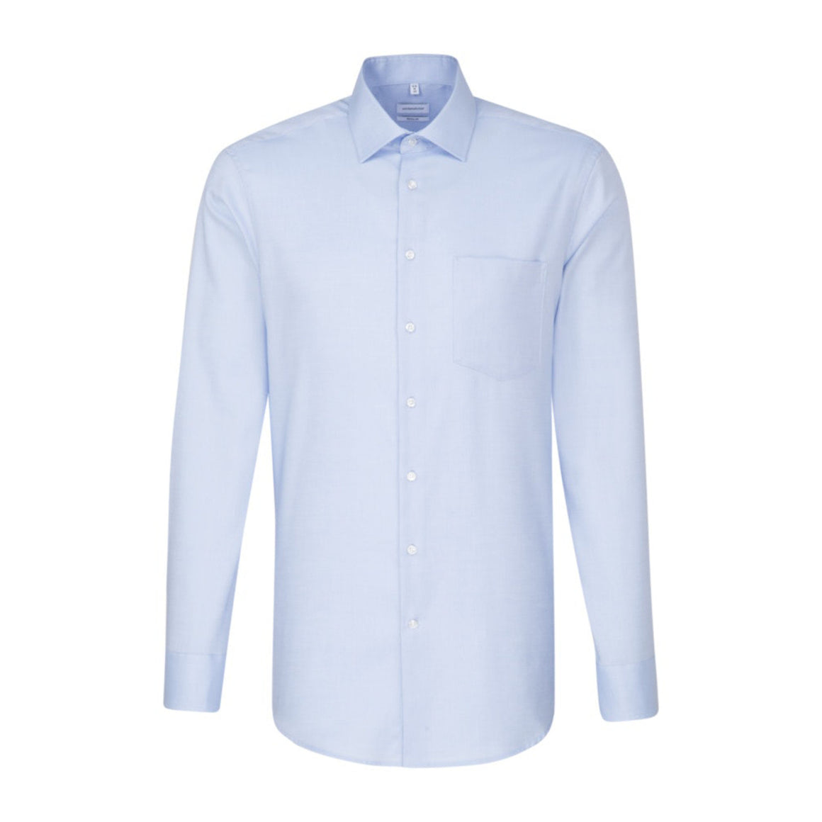 Plain Surface Structure Shirt for Men in Sky