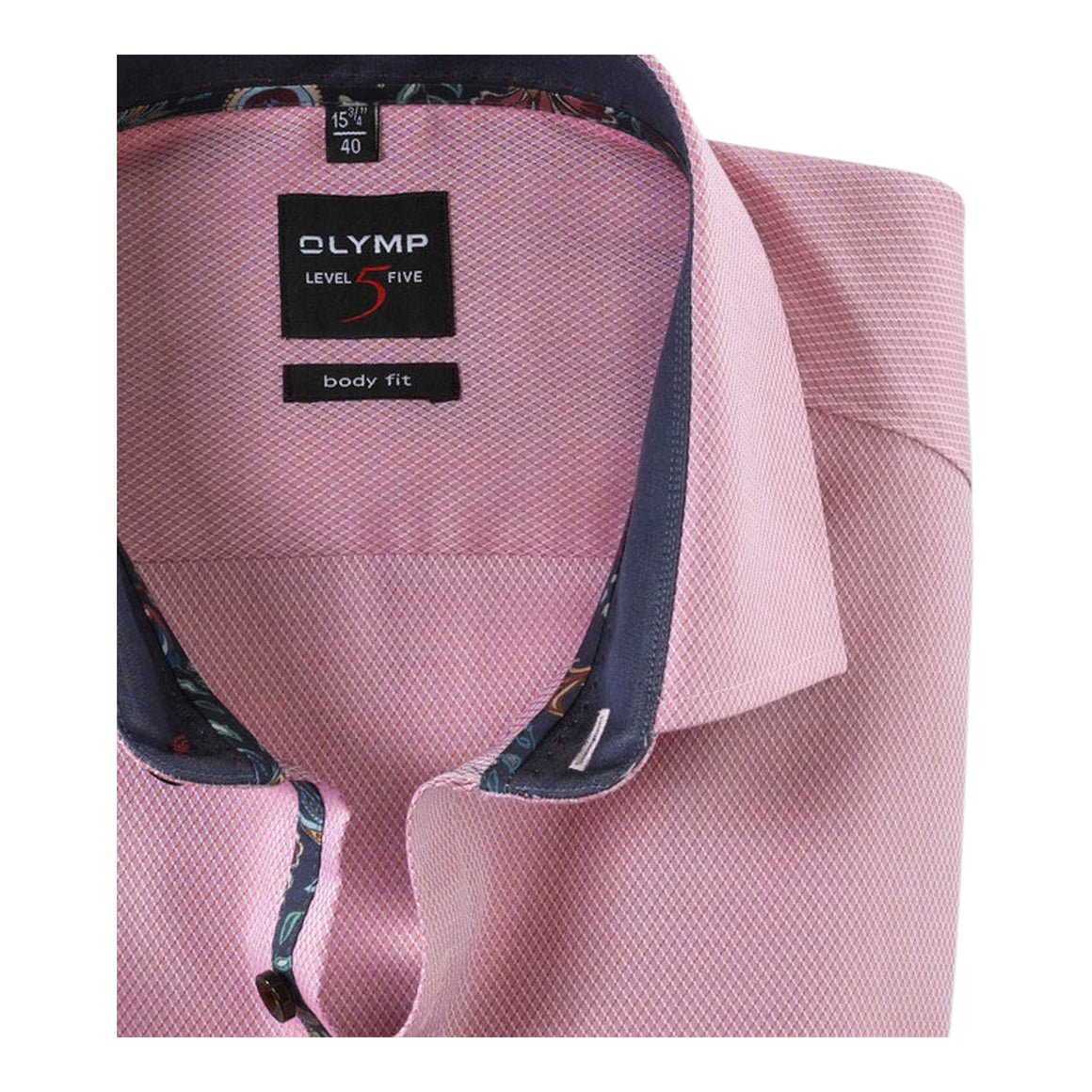 Self Textured Shirt for Men in Pink