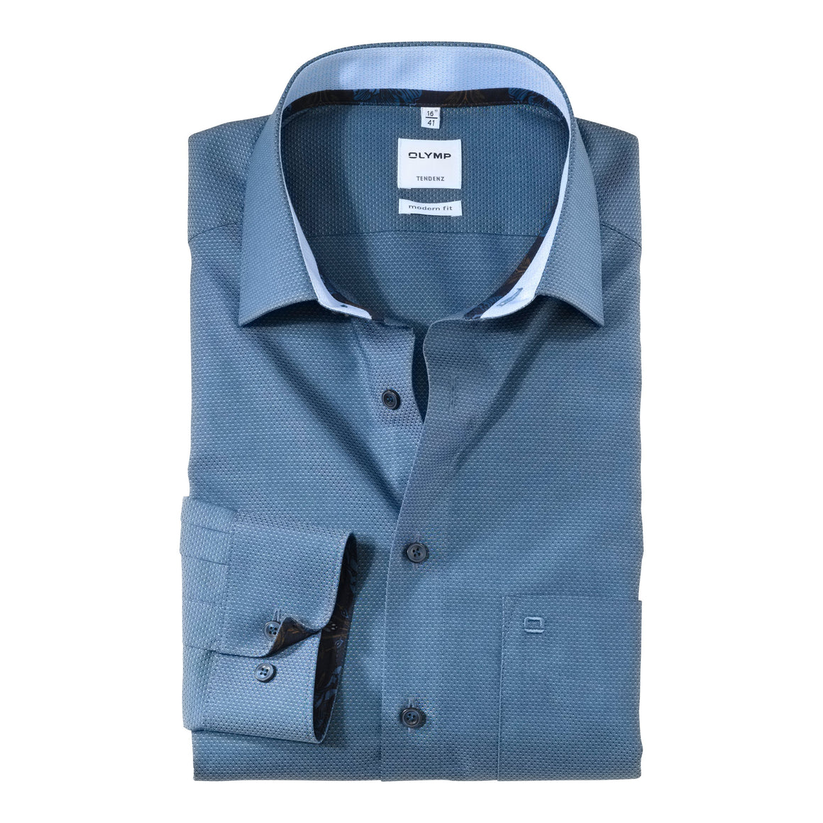 Pyramid Texture Shirt for Men in Blue