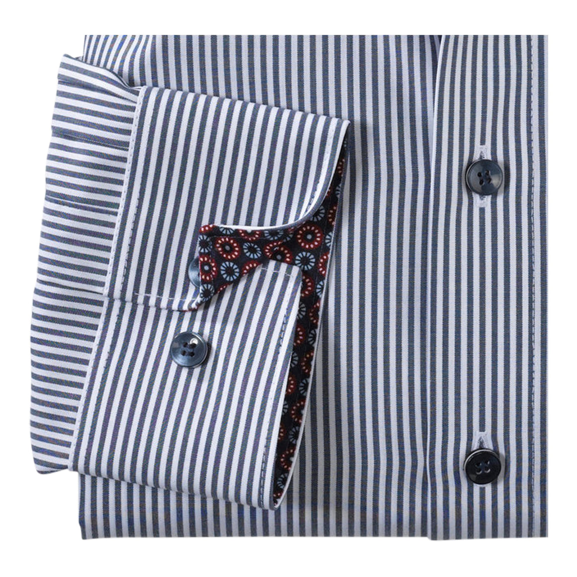 Pinstripe Shirt for Men in Royal