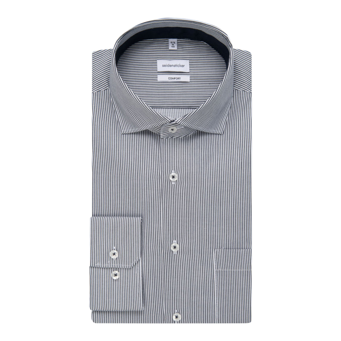 Rope Stripe Shirt for Men in Charcoal