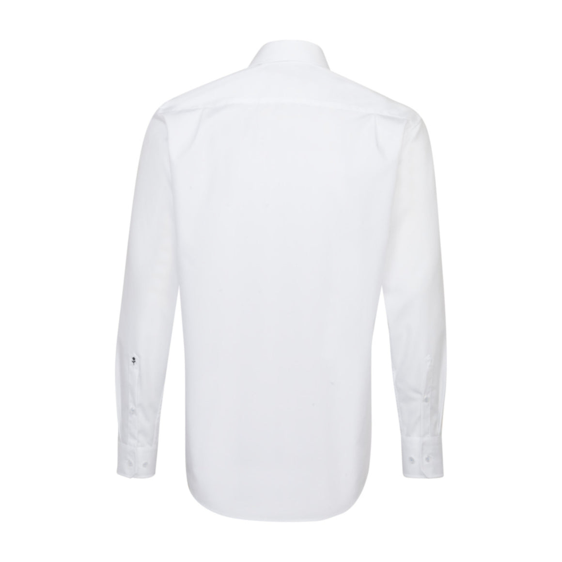 Plain Shirt With Trim for Men in White