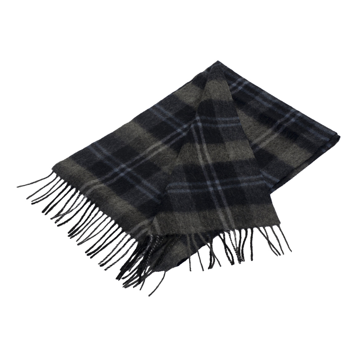 Woven Scarf for Men in Navy