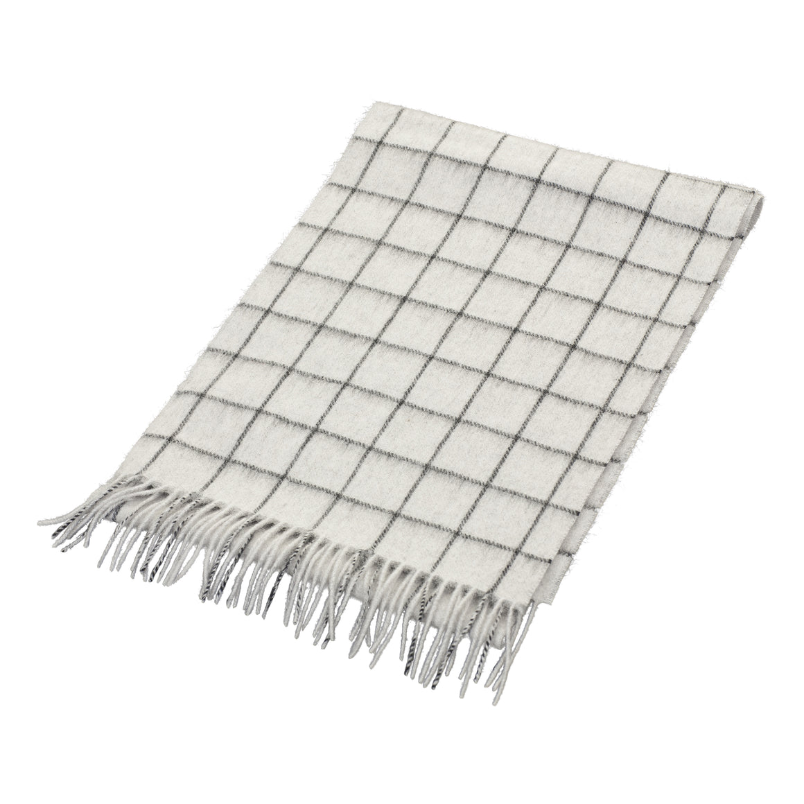Classic Check Scarf for Men in Grey
