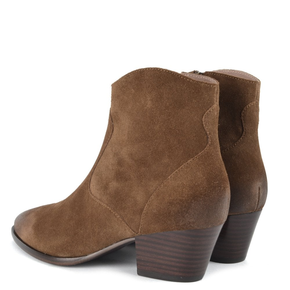 Heidi BIS Ankle Boot for Women in Brushed Russet Suede
