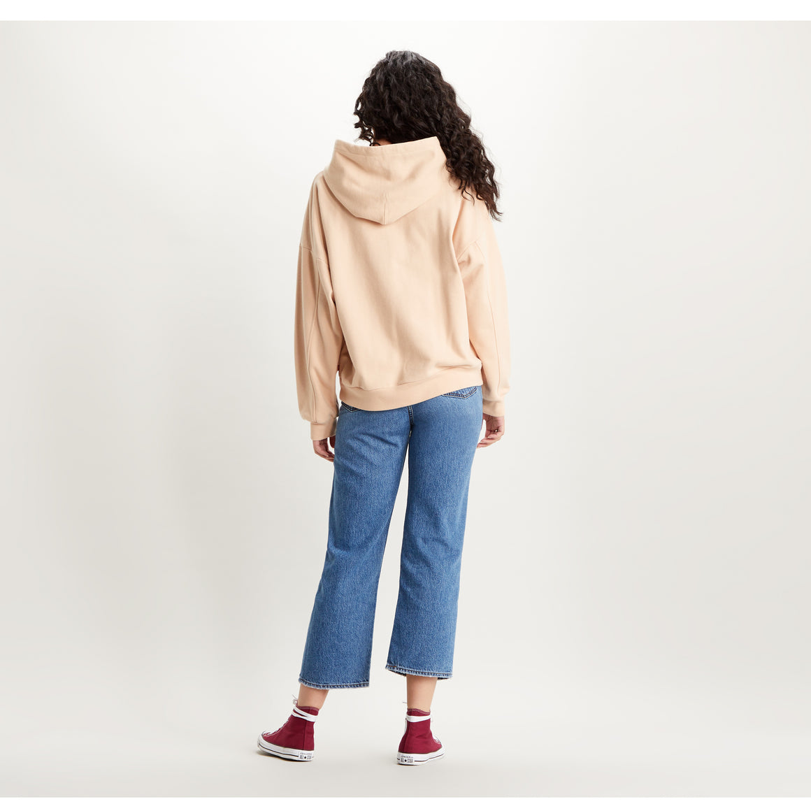 Graphic Serif Hoodie 2020 for Women in Toasted Almond
