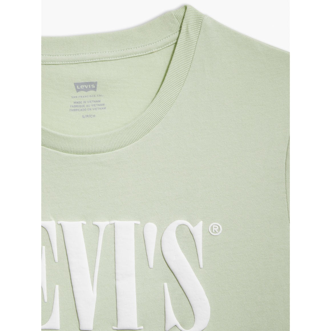 Perfect Serif Logo Tee for Women in Bok Choy