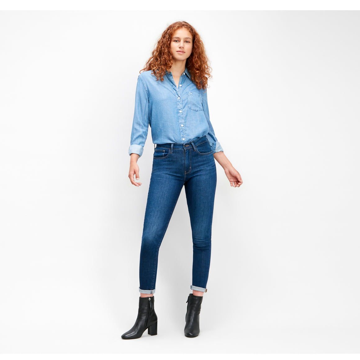 721 High Rise Skinny Jeans for Women in Out On A Limb - Blue