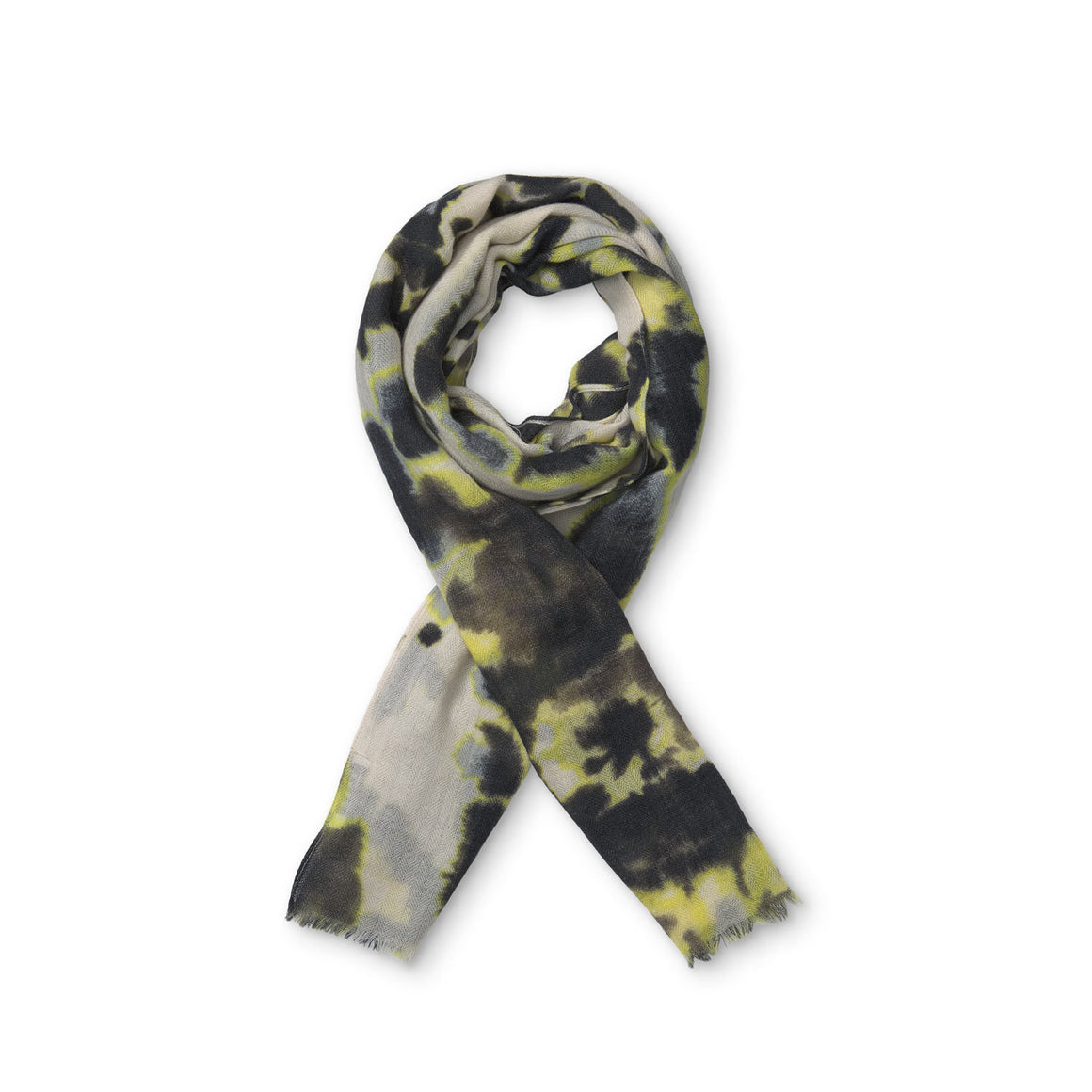 Arlberte Scarf for Women in Oil Yellow