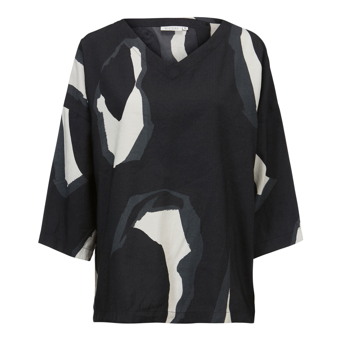 Darleen Print Top for Women in Black
