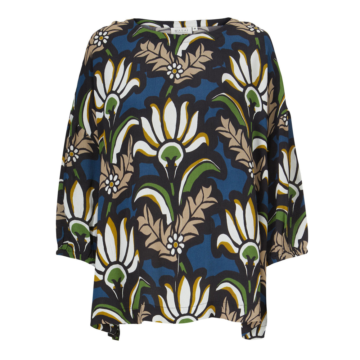 Beatrix Print Top for Women in Garden Green