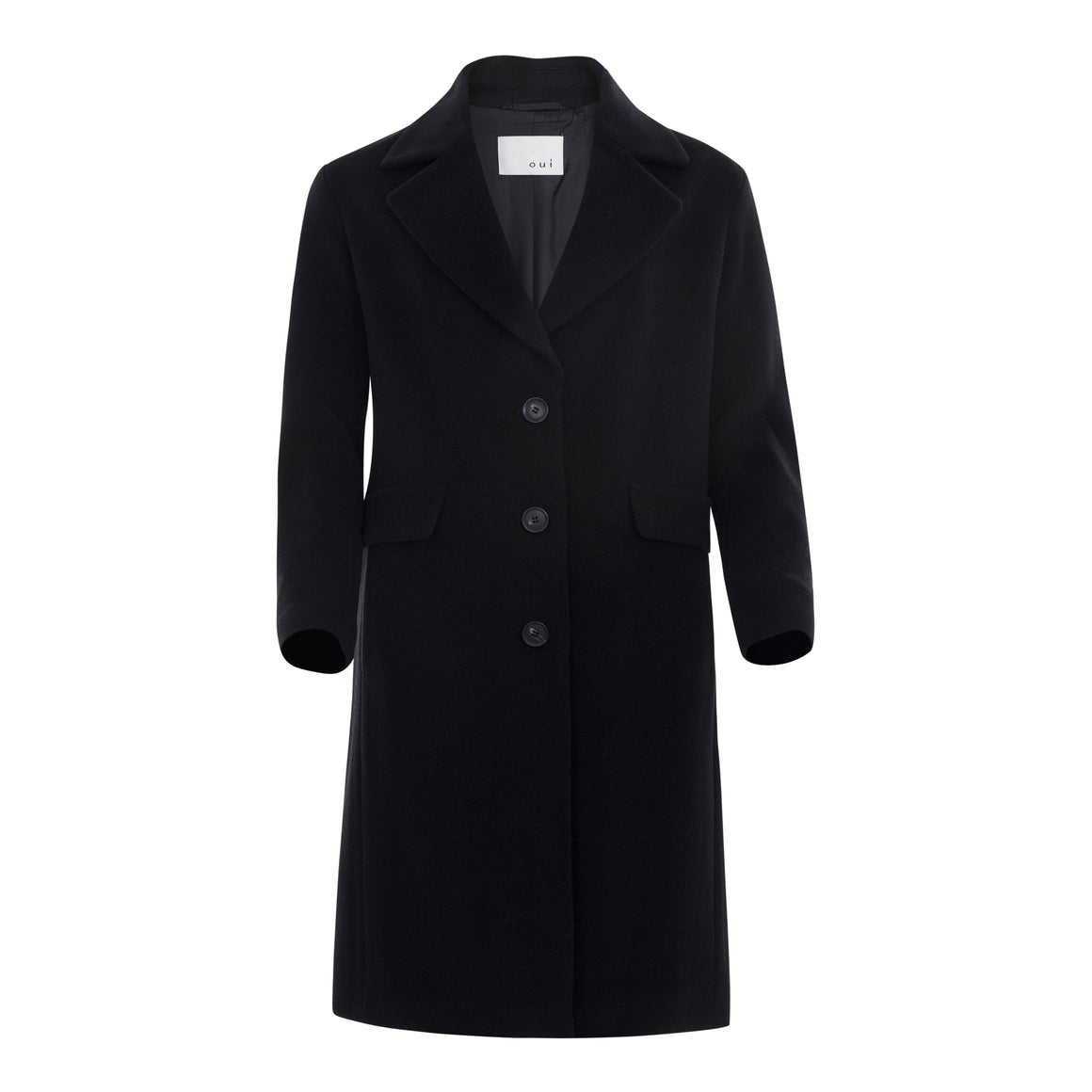 Wool/Cashmere Coat for Women in Black