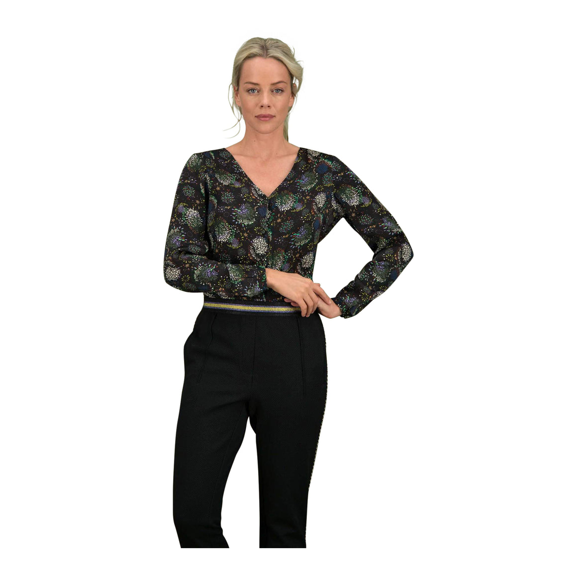 Blouse for Women in Sparky Fireworks