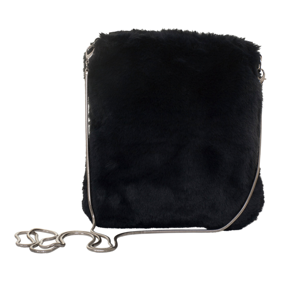 Doxi Fur Pouch for Women in Navy