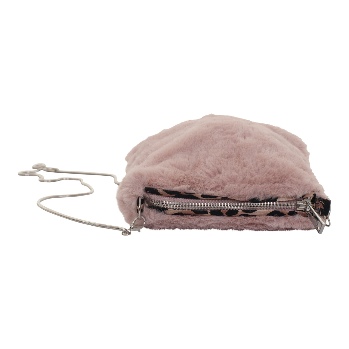 Doxi Fur Pouch for Women in Hushed Pink