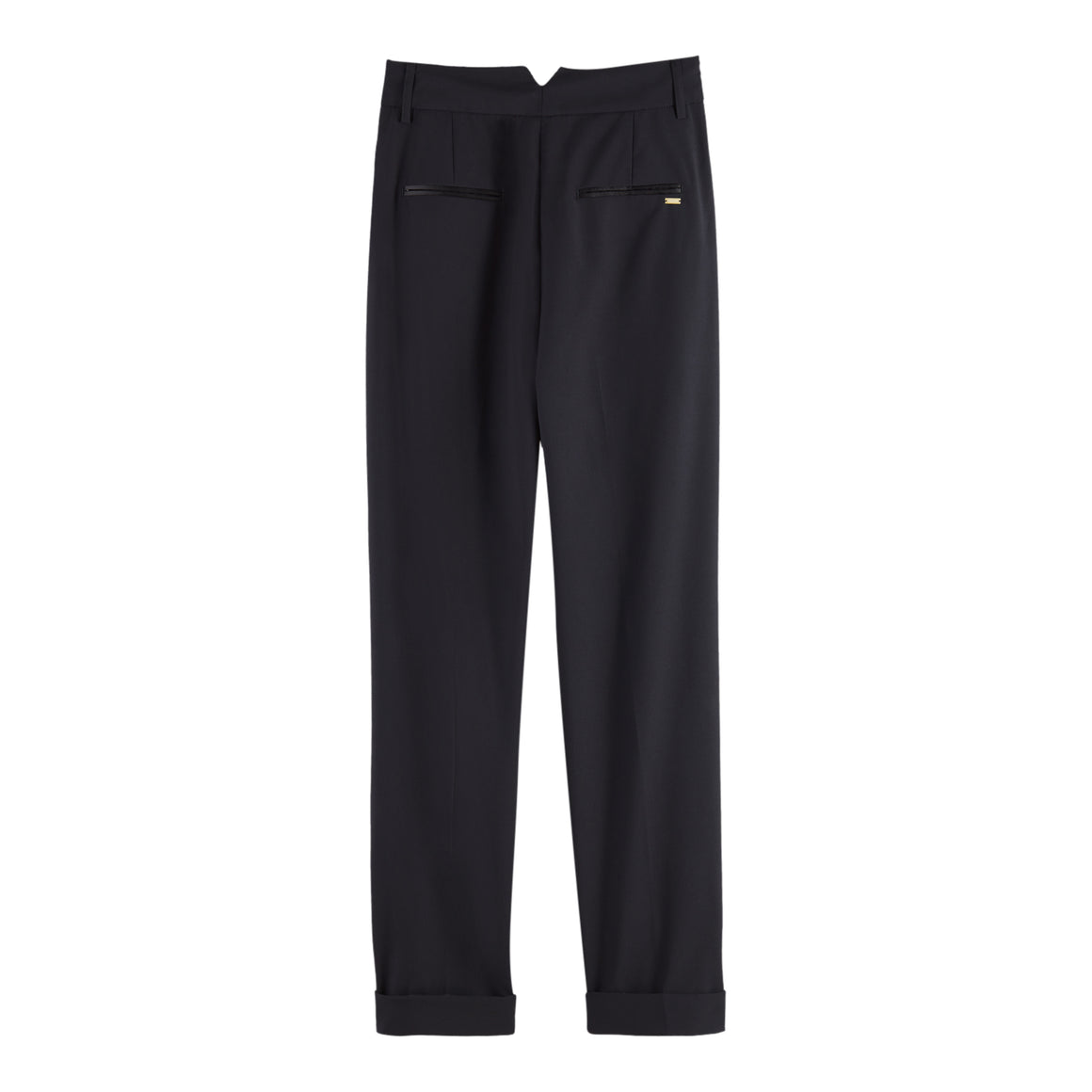 Tailored High Waist Pants for Women in Black