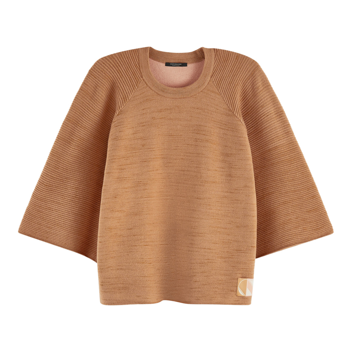 Club Nomand Knitted Jumper for Women in Camel Melange