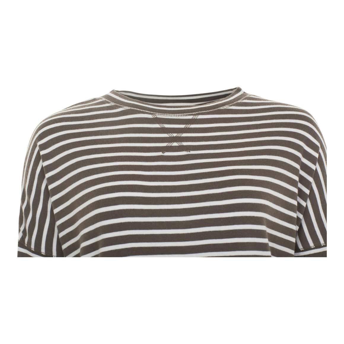 NYC Stripe Long Sleeve Top for Women in Army Khaki