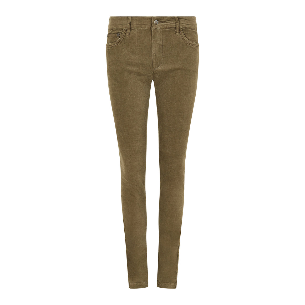 Honeysuckle Cord Trouser for Women in Dusky Green