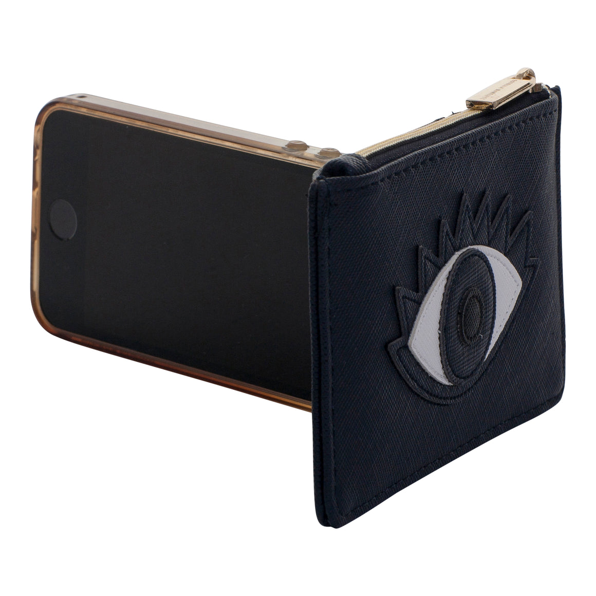 Eye Card Purse for Women in Black