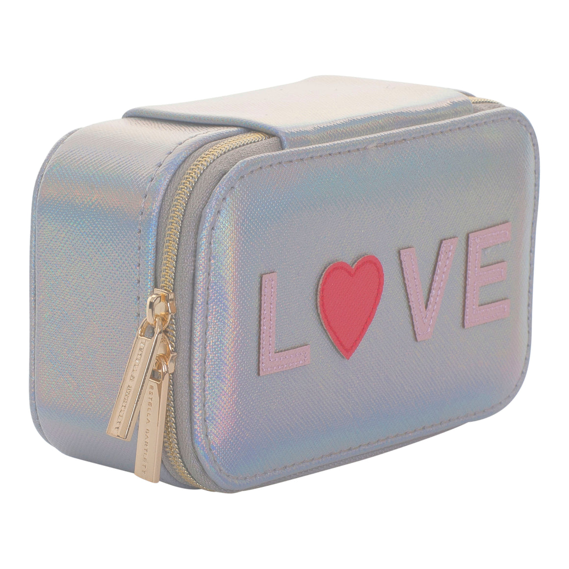 Iridescent Love Jewellery Box for Women in Silver