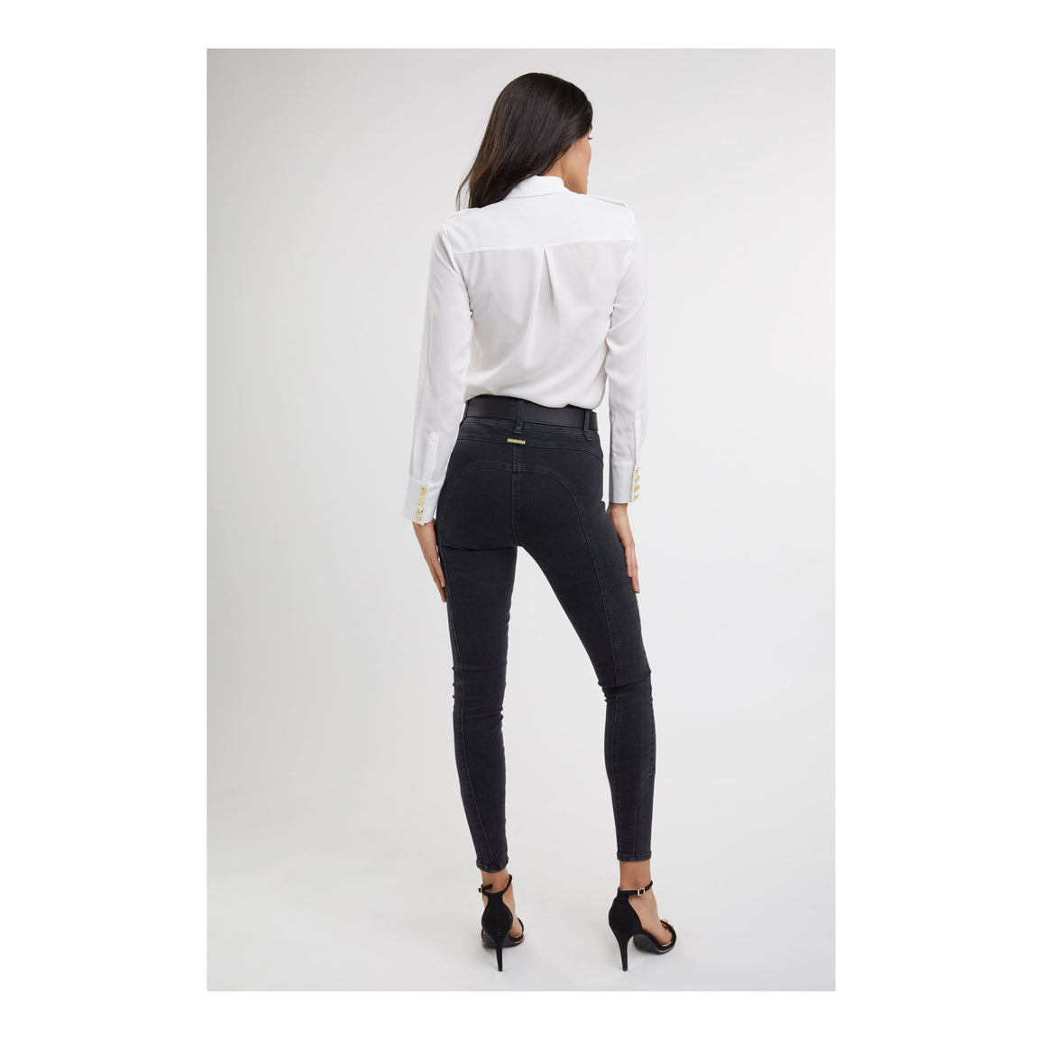 Jodphur Jean for Women in Washed Black