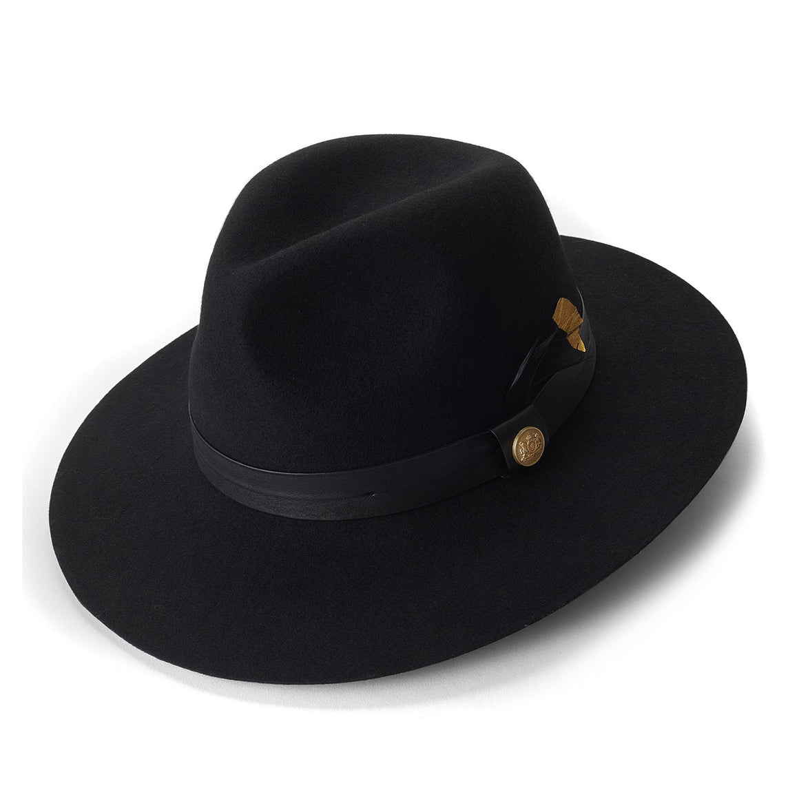 Trilby Hat for Women in Black Feather
