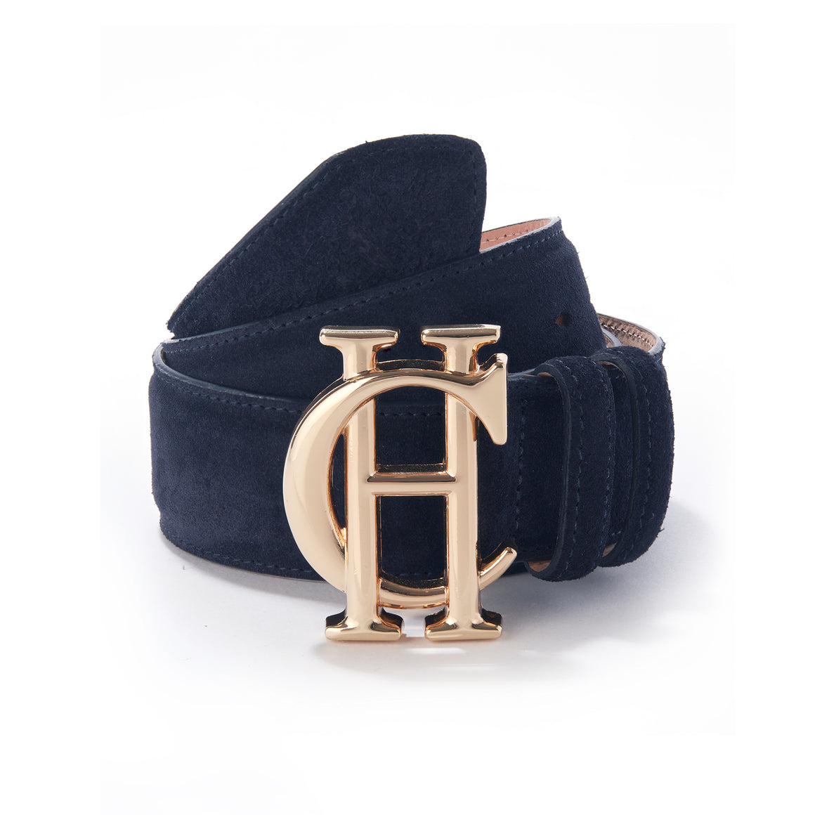 HC Suede Belt for Women in Ink Navy