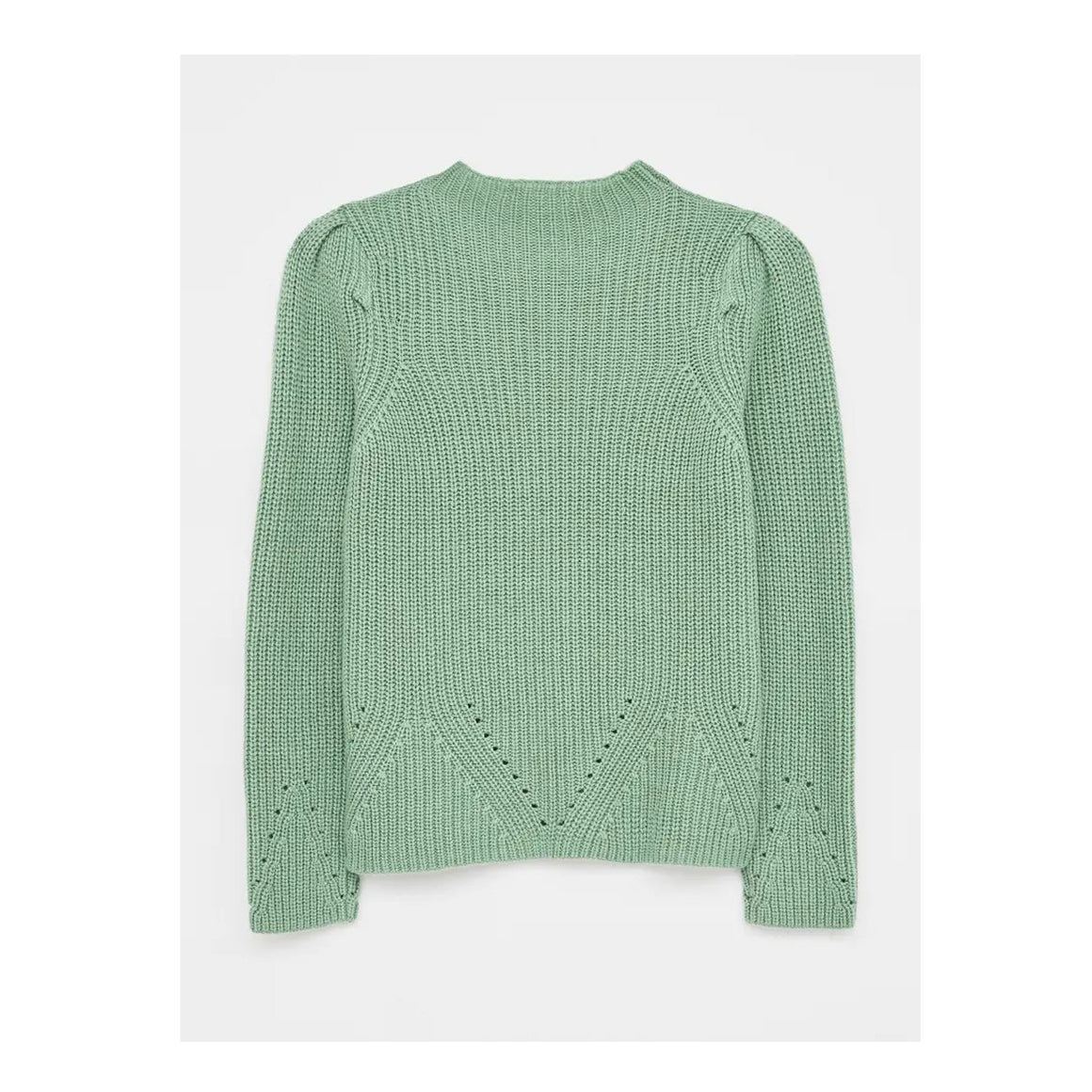 Petra Puff Sleeve Jumper for Women in Green