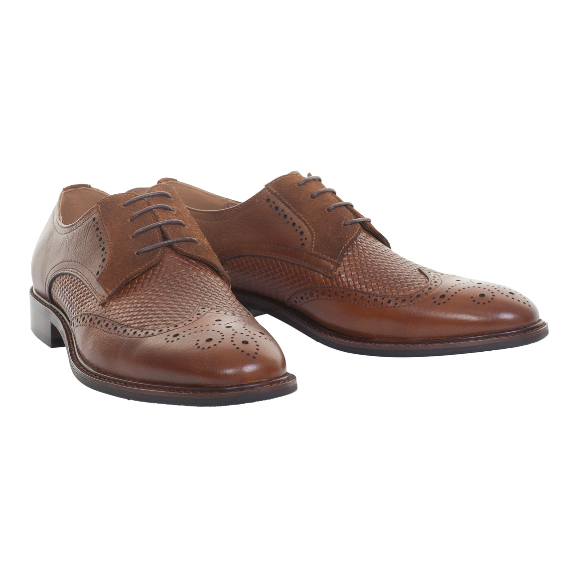 Claudio Brogue Shoe for Men in Brown
