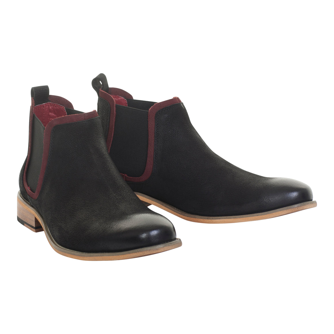Egon Pull On Boots for Men in Black