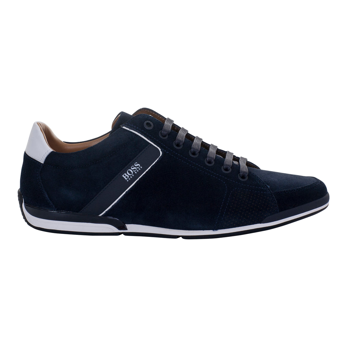 Saturn Suede Trainers for Men in Navy