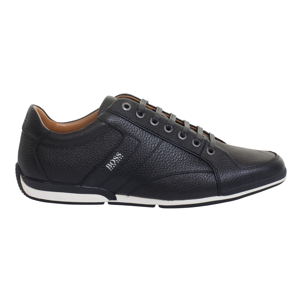 Saturn Leather Trainer for Men in Black