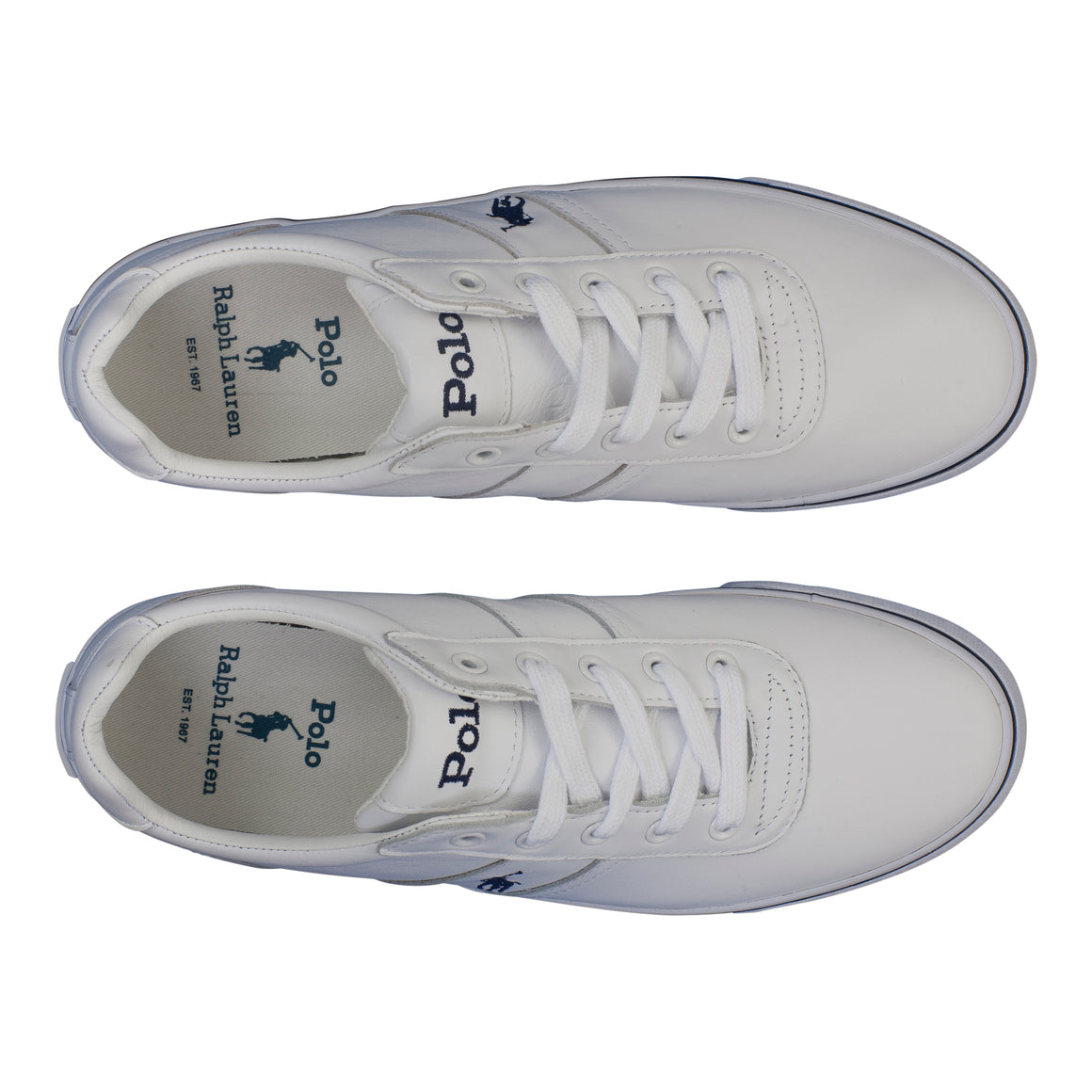 Leather Lace Trainer for Men in White
