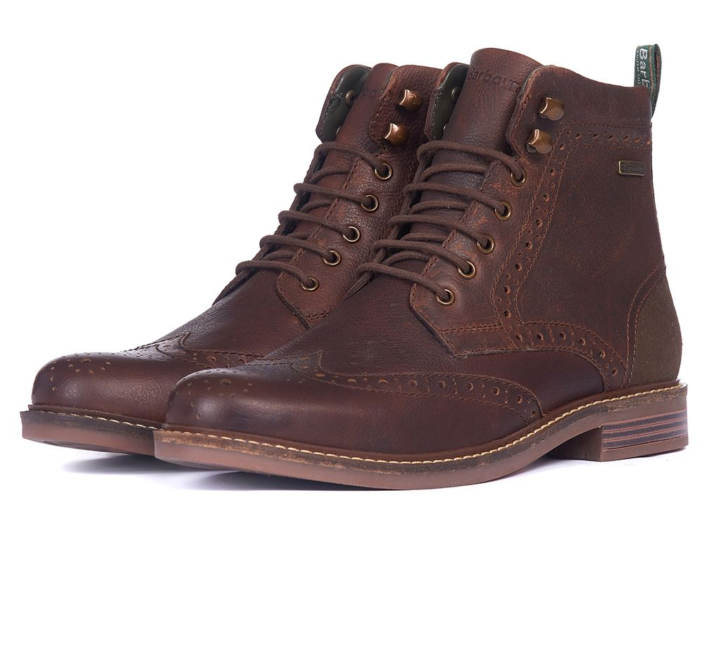 Seaton Brogue Boot for Men in Teak