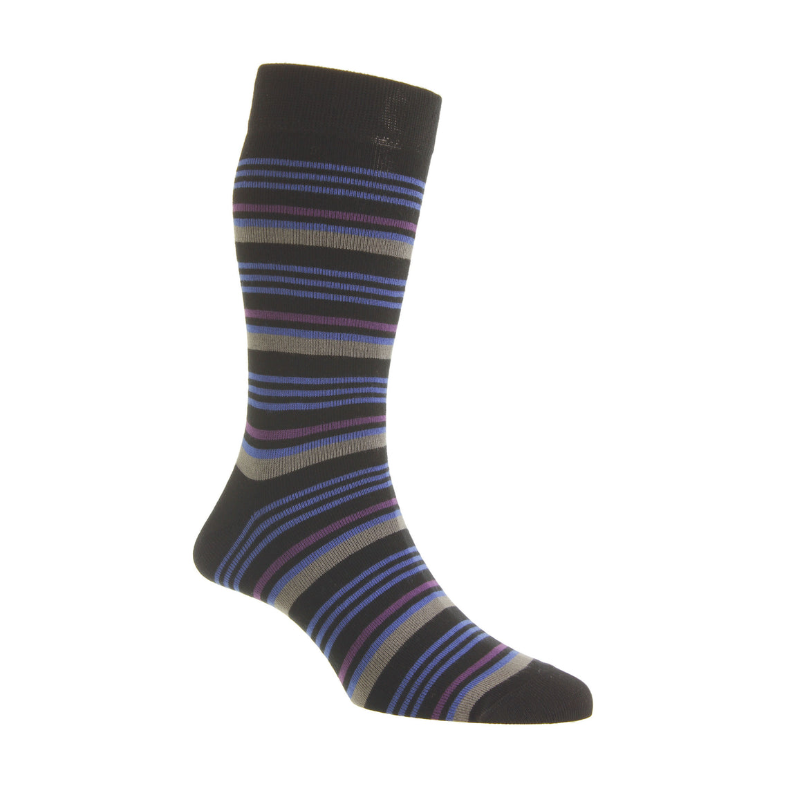 HJ6529 Socks for Men in Black/Electric