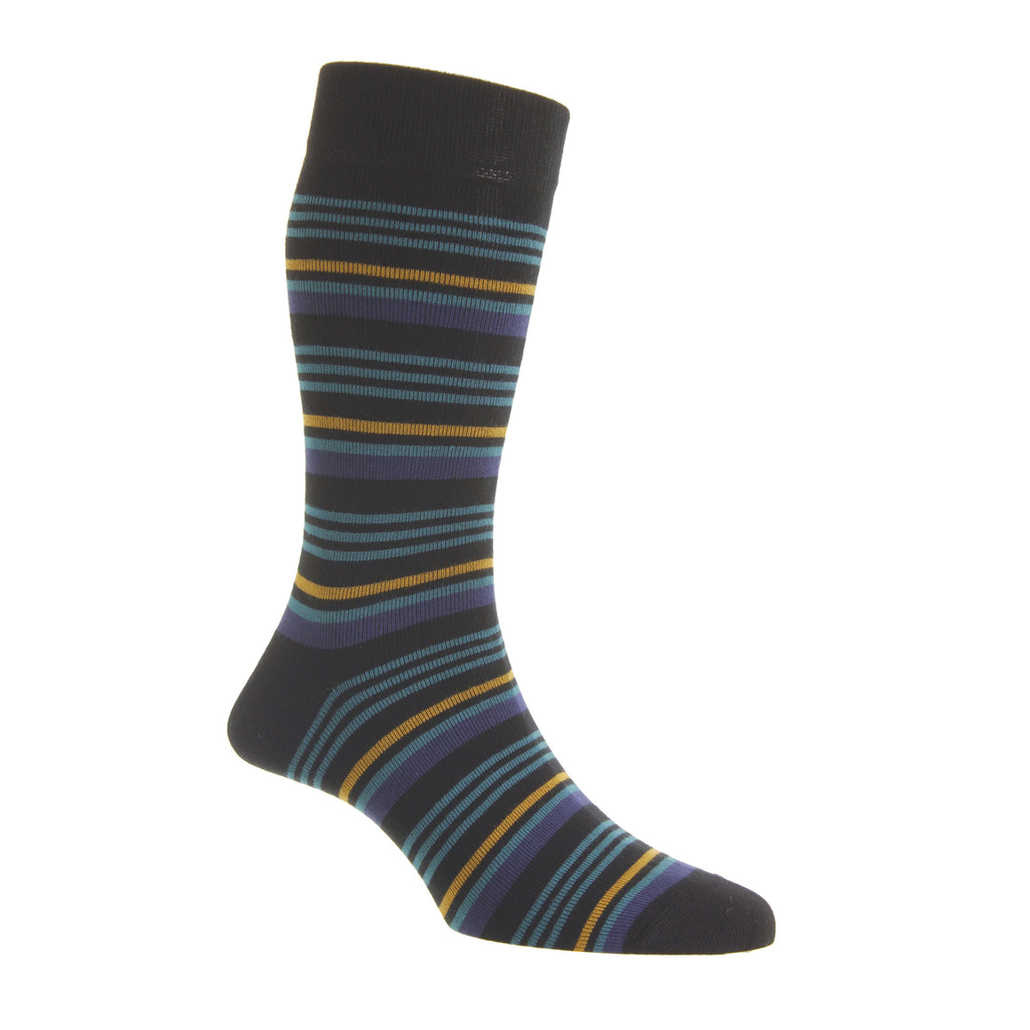 HJ6529 Socks for Men in Black/Orche