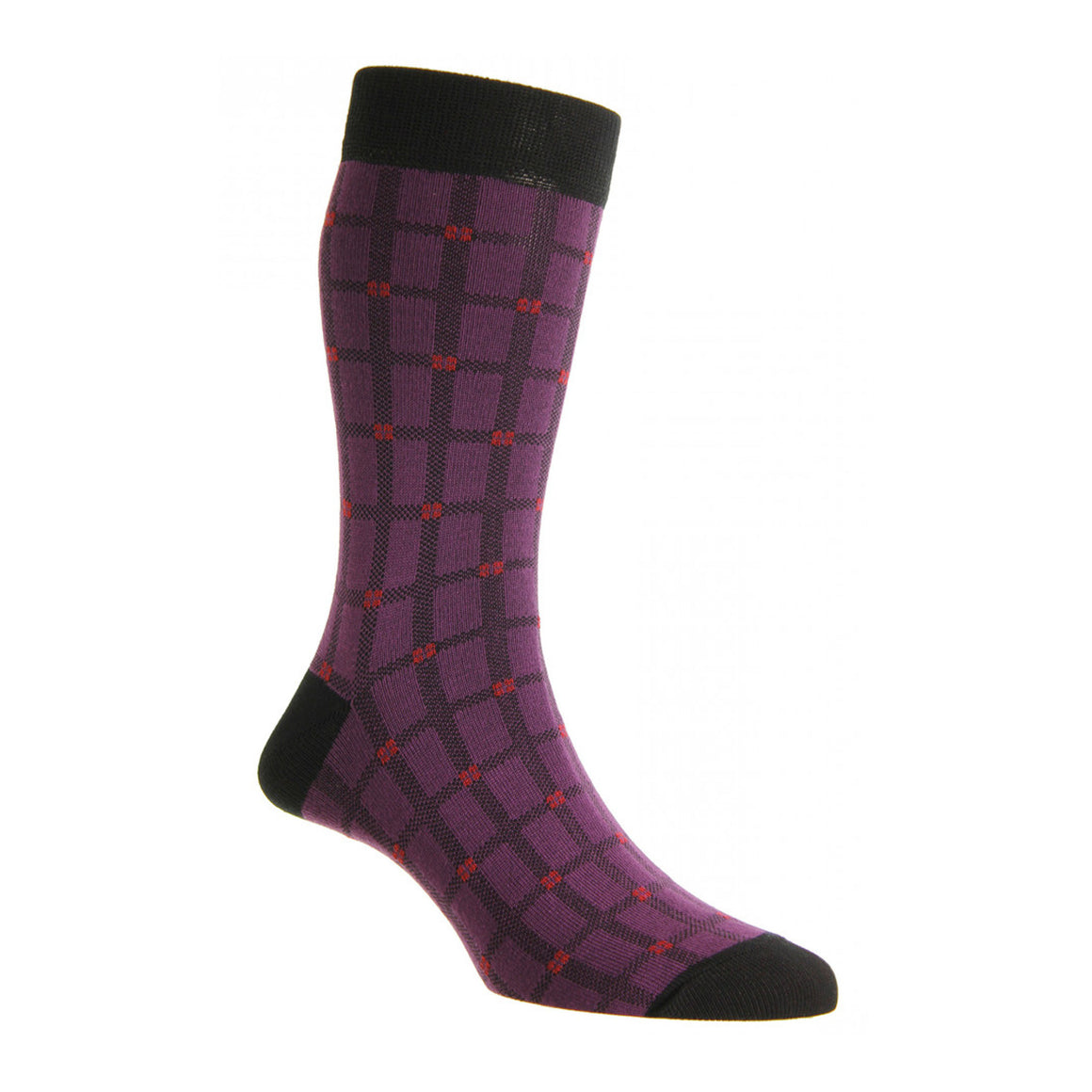 HJ653 Socks for Men in Purple