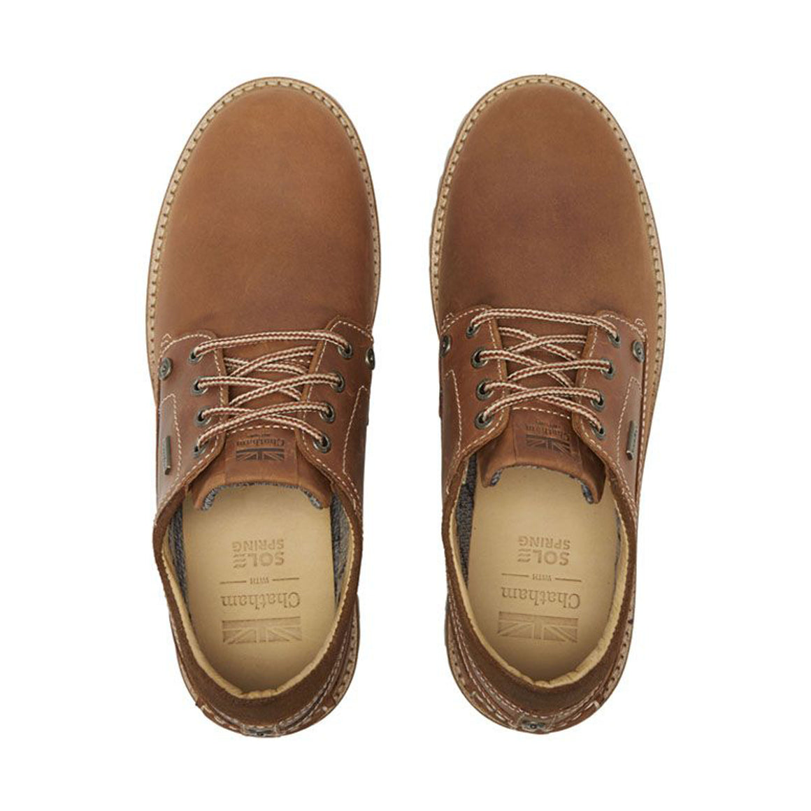 Raby Waterproof Derby Shoe for Men in Tan
